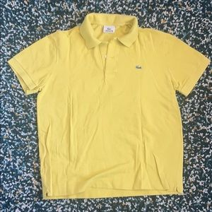 Lacoste yellow polo shirt